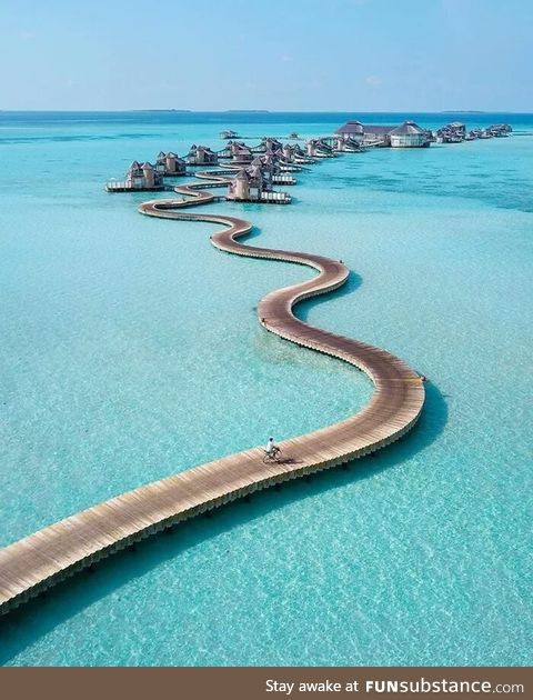 Morning ride in the Maldives