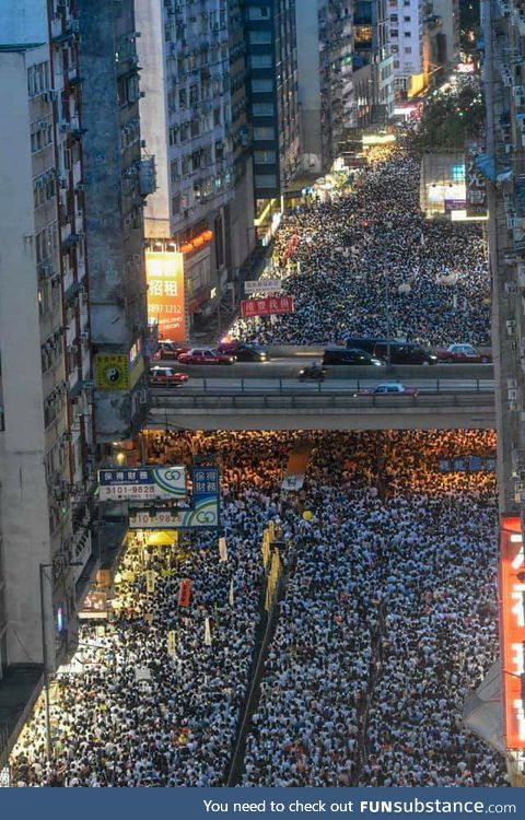 Hong Kong protest against extradition law which aims to send political criminals and