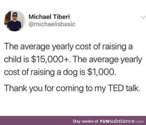 Yeah I dont think the math is alright but I get his point !
