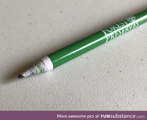 Pencil made of recycled newspapers