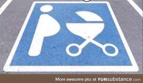 At last! A parking space for middle aged men with beer bellies who love grilling!