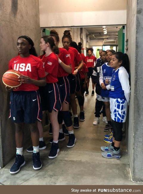 Women's USA basketball team vs. El Salvador