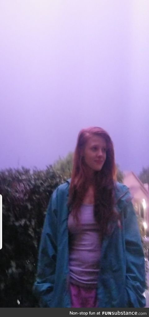 This picture was taken around midnight during a flash of lightening