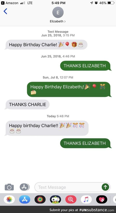 That one relative you only text once a year