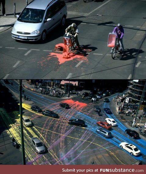 Next level of street vandalism