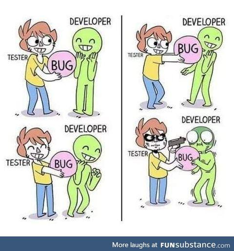 Tester vs developer