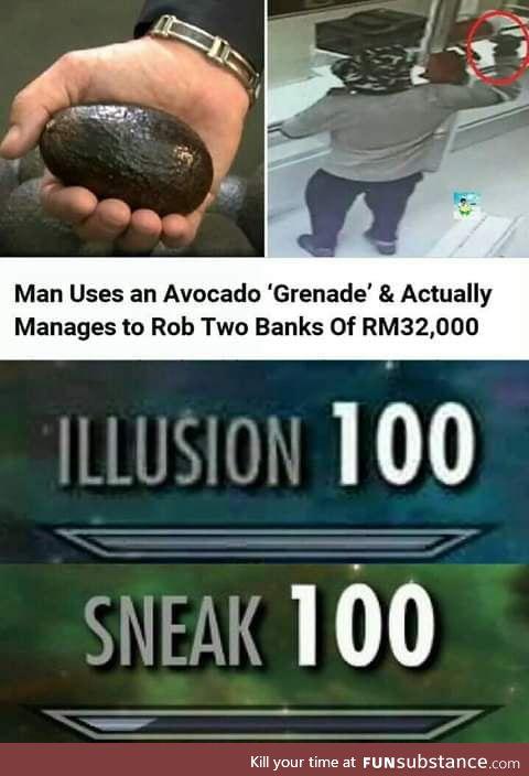 Avocado bank robber