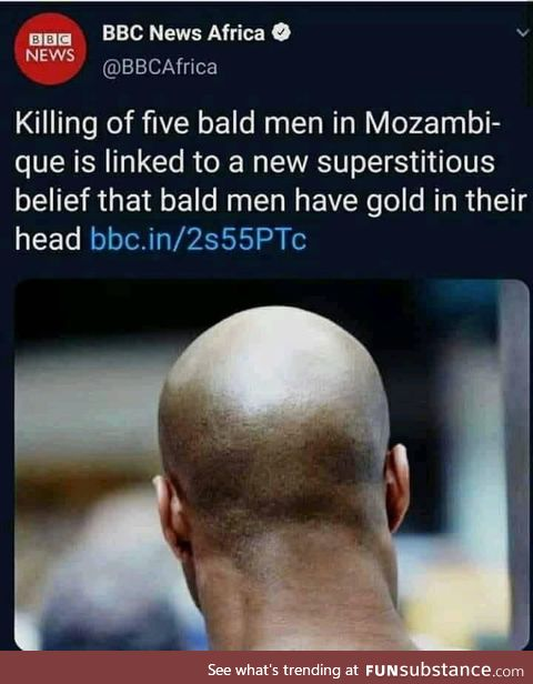 Beware you bald guys out there