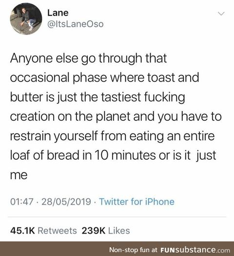 Half a loaf is a balanced diet right?