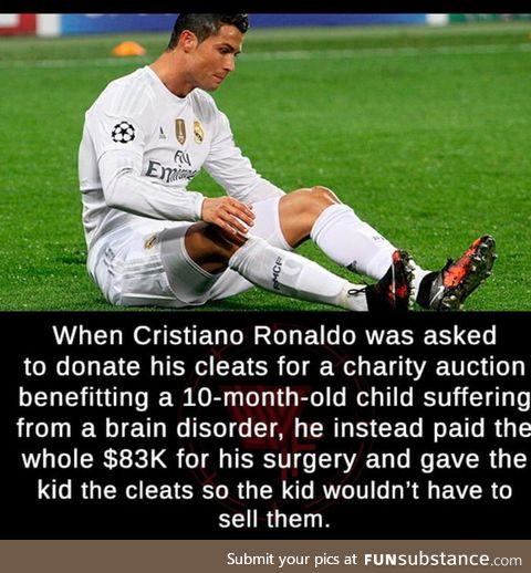 Good guy, cristiano ronaldo