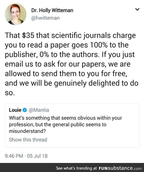 Just email them!
