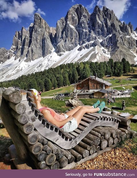 Take a seat in South Tirol, Italy