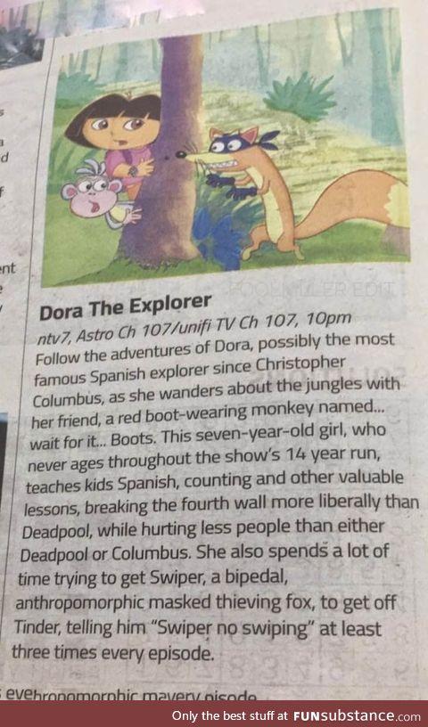 How Dora is summarised in Malaysia