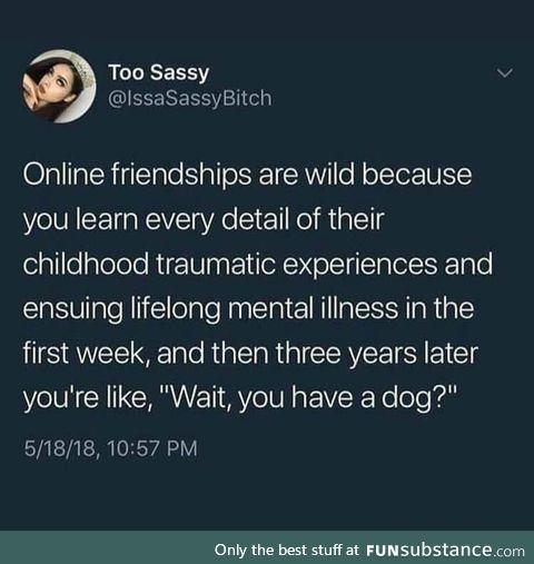 Online friendships smh