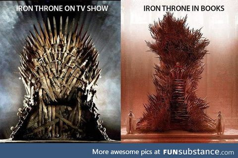 The Gigantic Iron Throne has 1000's of swords