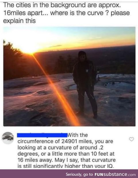 Flat earthers are something else