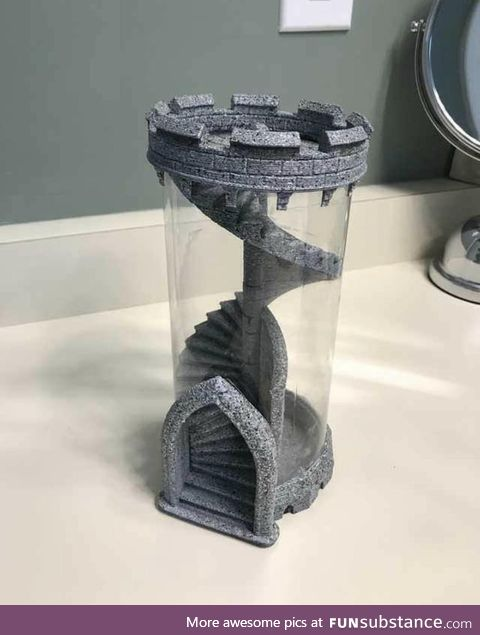 Tower for rolling dice