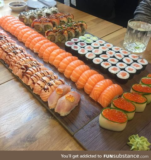 The way this food is laid out