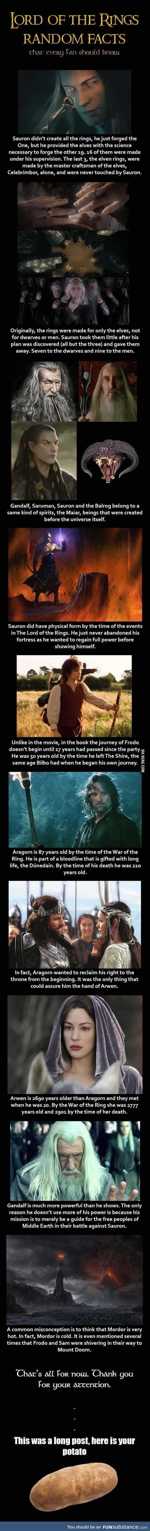 Just some random facts about LOTR