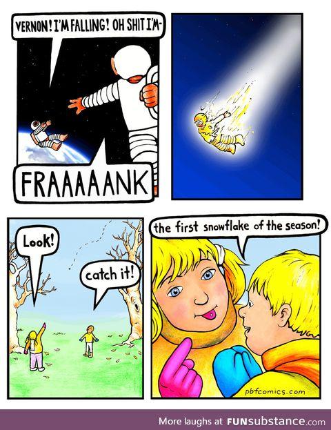 Pbf comics - astronaut fall
