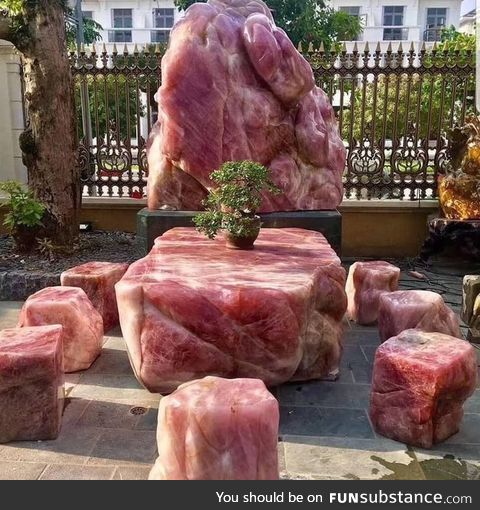 Crystal furniture set that looks like raw meat
