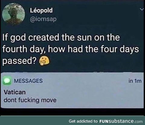 God, explain this