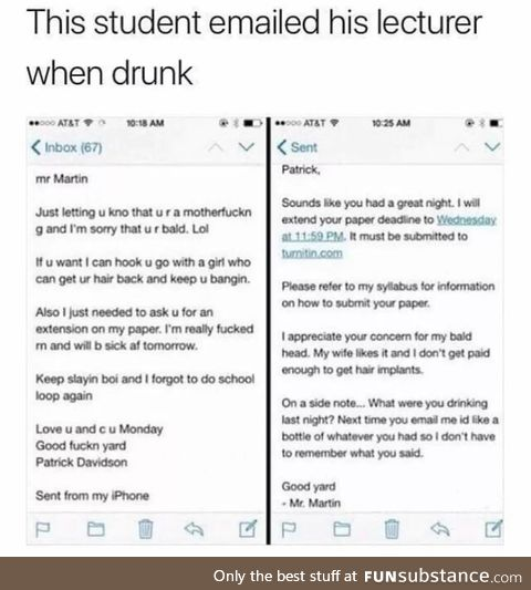 Don't Drink and Email