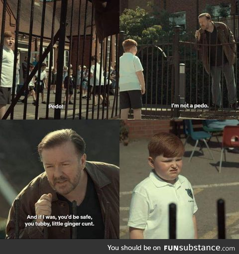 You tubby little ginger c**t