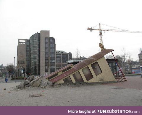 This metro station in Frankfurt, Germany