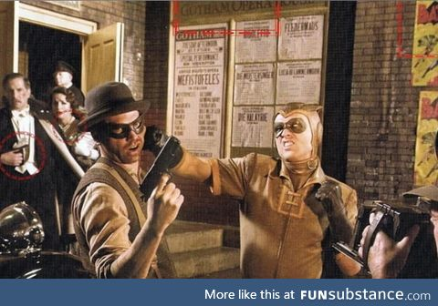 During the 'Watchmen' (2009) opening credits, the original Nite Owl rescues