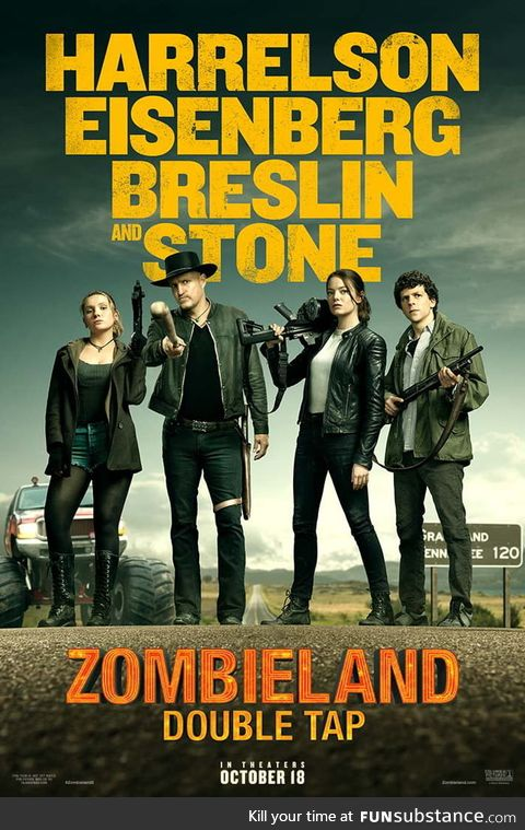 Zombieland: Double tap (2019)  official poster