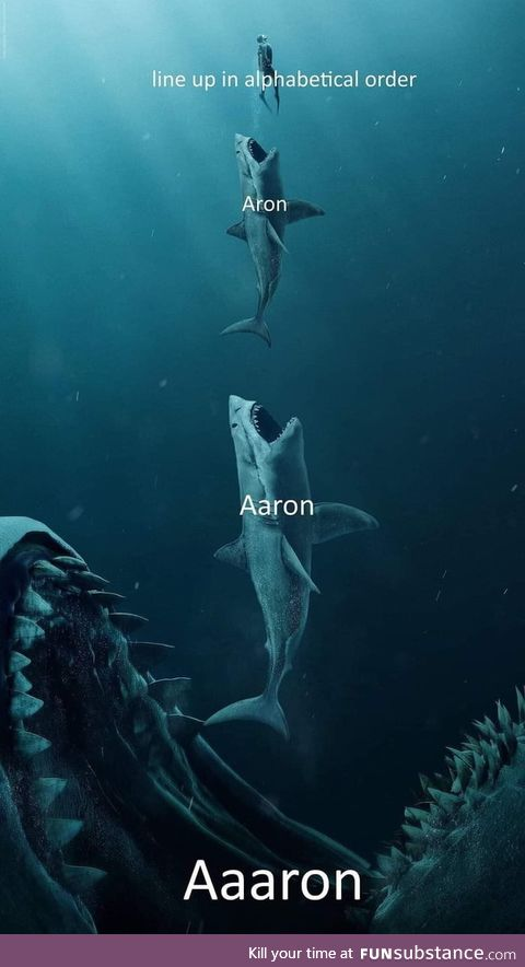 Ya done messed up a-aron