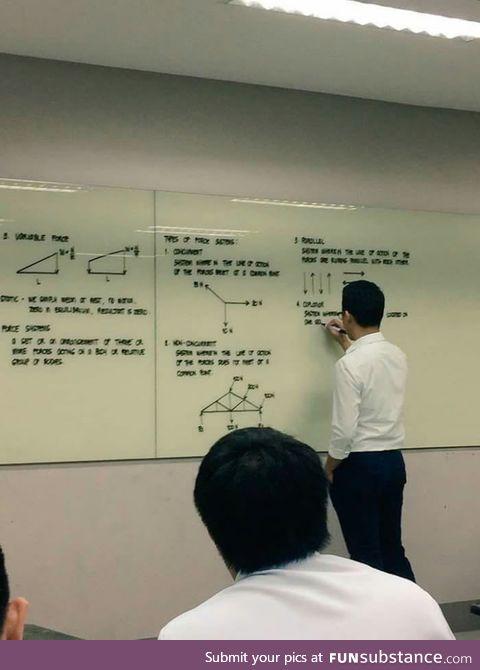 This teacher's handwriting