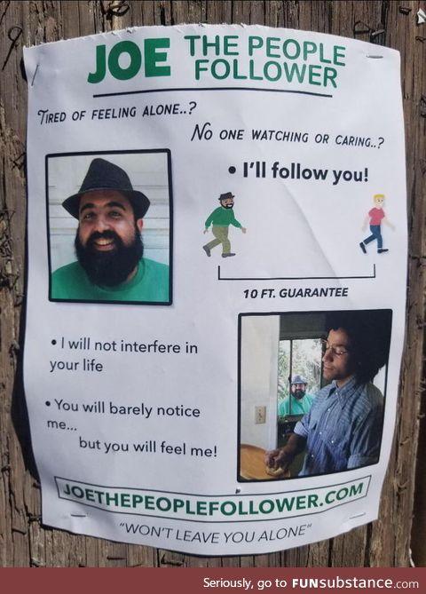 Joe the people follower
