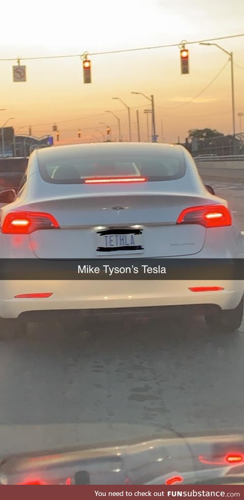 Wonder if this was Mike Tyson driving?