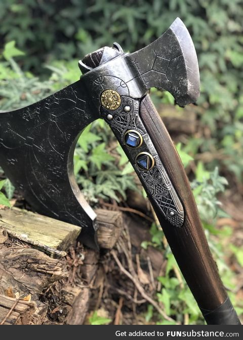 Recently finished making the leviathan axe from god of war