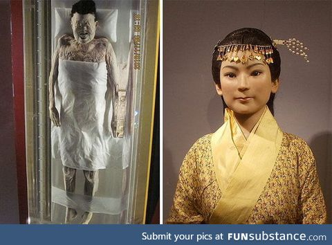 The 2,000 year old body of Xin Zhui (213 BC - 163 BC) which is considered the best