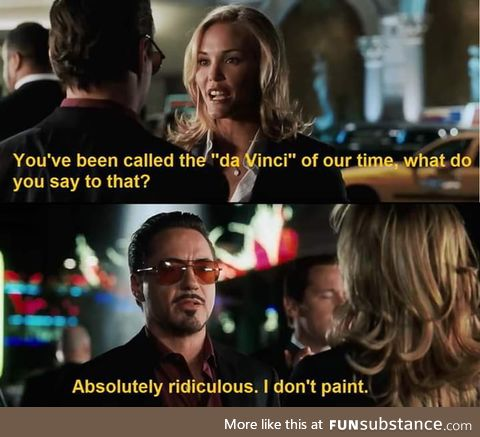Tony Stark's lines in the MCU are pure gold