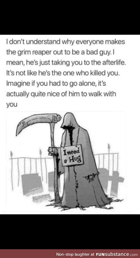 Grim reaper friend