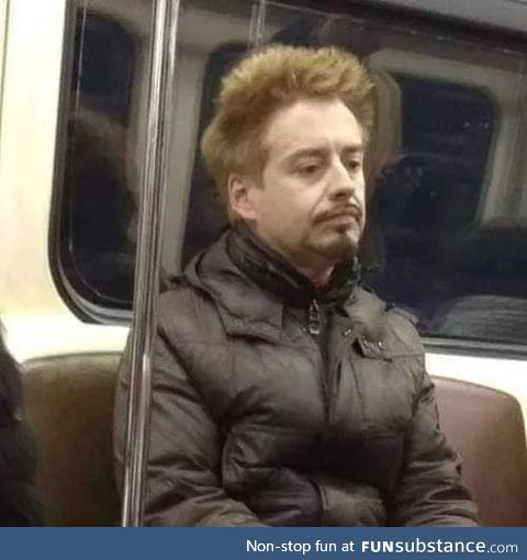 I saw Slavic Robert Downey Jr. Today