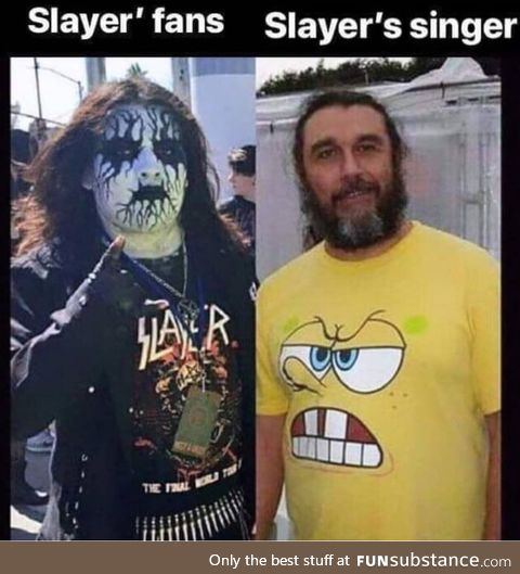 Spongebob is a slayer fan