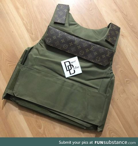 Louis Vuitton ballistic vest for when you need to storm the beach with style