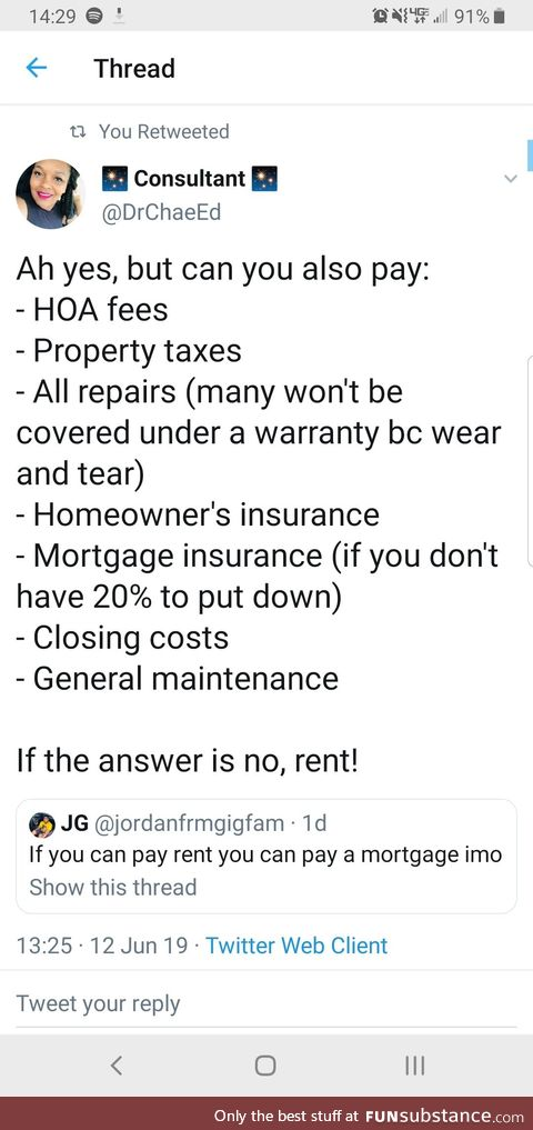 There is a time to rent and a time to own