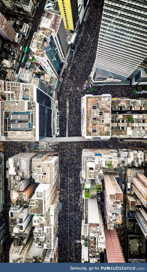 16th June, around 1.8 M Hongkongers going to street again, asking the chief executive to