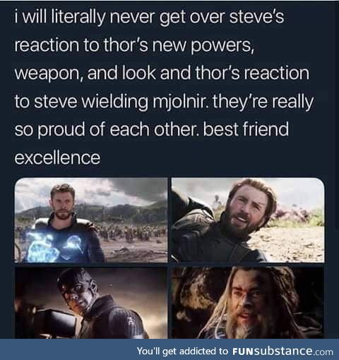 Rare friendship between Thor and Captain America