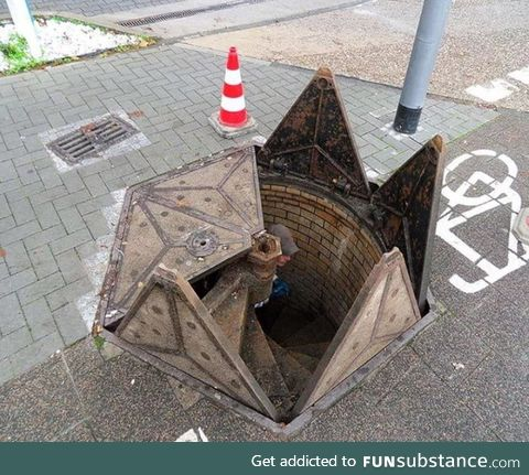 This is a cool manhole cover in Germany