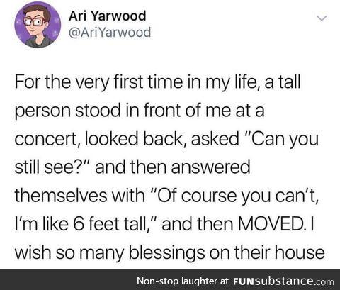 Sending many blessings