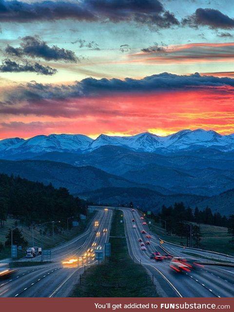 I70 West outside of Denver Colorado
