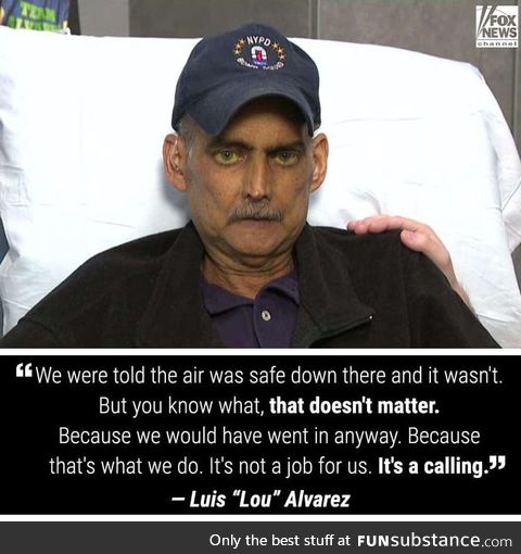 """Luis """"Lou"""" Alvarez, a 9/11 first responder announced Wednesday that he is now"""