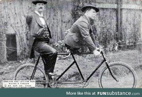 Biker bros circa 1890